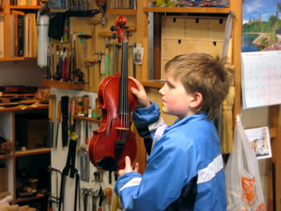 Student's Winning Violin
