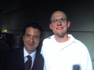 Trevor with Rick Mercer